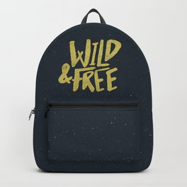 Wild and Free x Gold and Navy Backpack