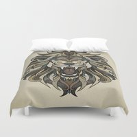 lion Duvet Covers featuring Lion by Andreas Preis