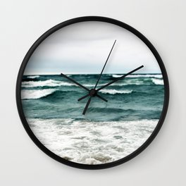Turquoise Sea #1 Wall Clock