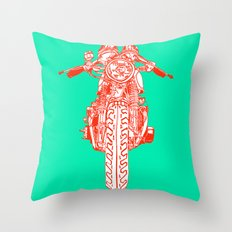 Cafe Racer front view Throw Pillow