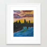 maine Framed Art Prints featuring Maine by Lissasdesigns