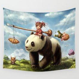 Panda Ride Wall Tapestry
