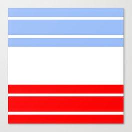 TEAM COLORS 9...Red,light blue, white Canvas Print