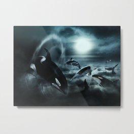 Orcas Metal Print