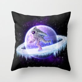 spaceskater Throw Pillow