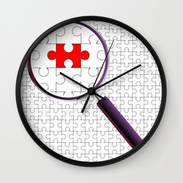 Odd Piece Magnifying Glass Wall Clock