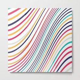 Abstract Colorful Lines Metal Print