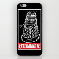 dr who iPhone & iPod Skins featuring EXTERMINATE  |  Dalek  |  Dr. Who by Silvio Ledbetter