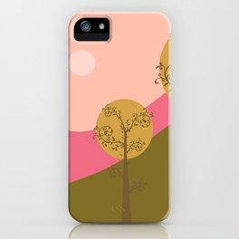 Kawai landscape autumn iPhone Case