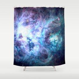 Tarantula Nebula Blue Lavender Gold Shower Curtain