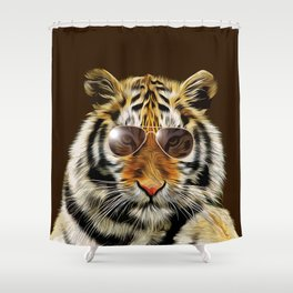 In the Eye of the Tiger Shower Curtain