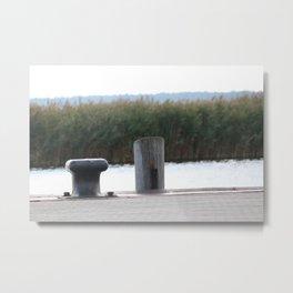 Docking Cleat Metal Print