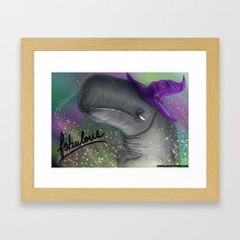 Fabulous Wizard Whale Framed Art Print