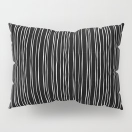Wide Black Stripe Pillow Sham