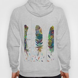 mandala colorful feathers Hoody