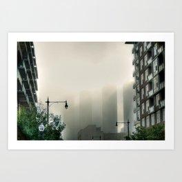 Foggy Presidential Towers Art Print