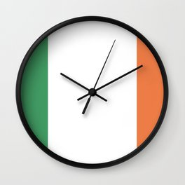 Ireland flag emblem Wall Clock