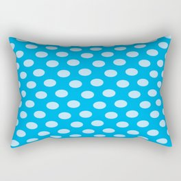 WHITE DOTS ON A BLUE BACKGROUNDAbstract Art Rectangular Pillow