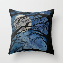 Forest of silence Throw Pillow