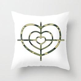 Heartscope Camo Throw Pillow