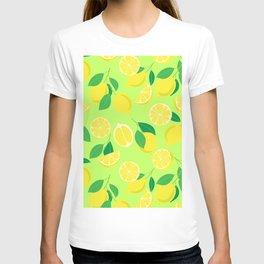 Lemons, tropical pattern 2 T-shirt