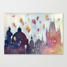 Balloons at Charles Bridge Canvas Print