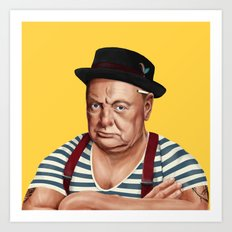 Hipstory -  Winston Churchill Art Print
