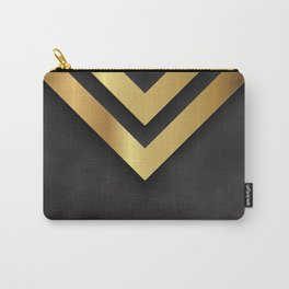Back and gold geometric design Carry-All Pouch