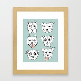 Pittie Pittie Please! 3 Framed Art Print