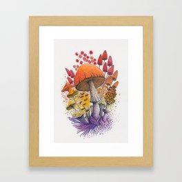 Mushroom Composition #1 Framed Art Print