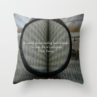 health Throw Pillows featuring Good Health by Veronica Ventress