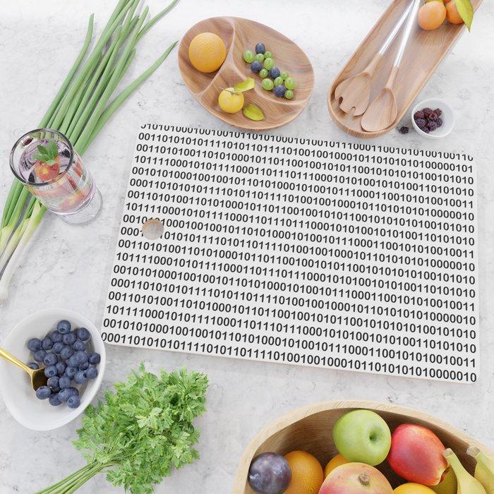 Binary Code Cutting Board