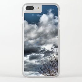dramatic scenery with clouds Clear iPhone Case