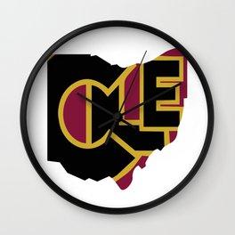 CLE, Ohio Wall Clock
