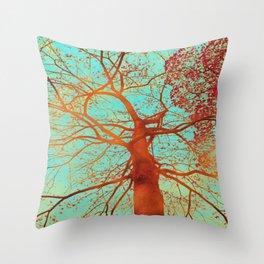 Swinging tree Throw Pillow