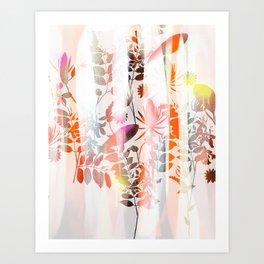 Spray Painted Florals Art Print