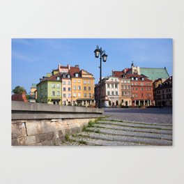 Houses in the Old Town of Warsaw Canvas Print