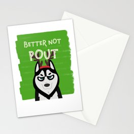 Mad Dog Christmas Better Not Pout Dogs Themed Stationery Cards