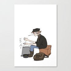 Travelling Musician Canvas Print