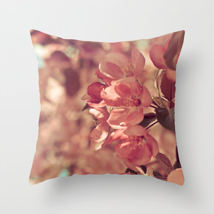 Ode to pink Throw Pillow