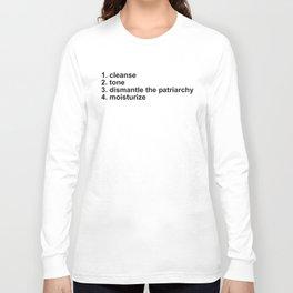 Feminist Skincare 4 Step Routine Long Sleeve T-shirt