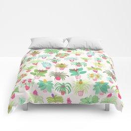 Tropical Houseplants Comforters