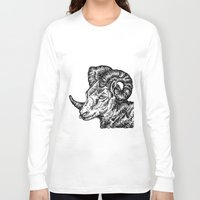 ram Long Sleeve T-shirts featuring Ram by turquoisecactus