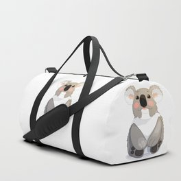 Lovely koala bear sitting and looking up. Duffle Bag