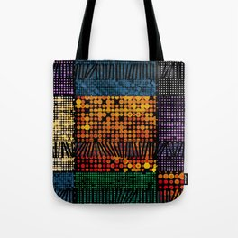Spots in Squares in Colors Tote Bag