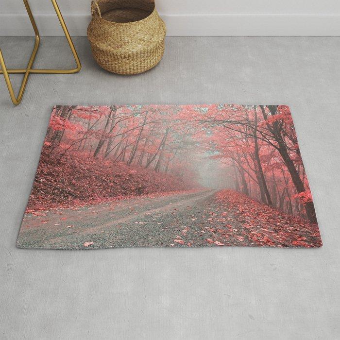 Misty Forest Road Tickle Me Pink Rug