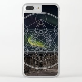 Northern Lights Star Clear iPhone Case