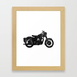 Motorcycle Silhouette Framed Art Print