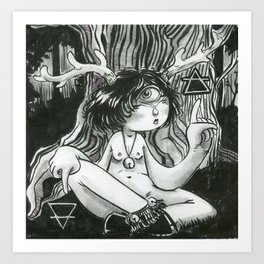 Forest soul Art Print