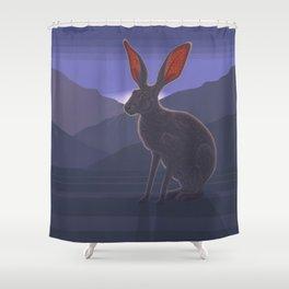 Black-tailed Jackrabbit Shower Curtain